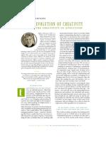 The Evolution of Creativity and the Crea