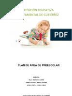 Plan de Area Preescolar