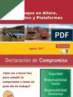 08. Reunión Grupal HS-MA Agosto 2017 - Trabajose en Altura - Andamios y Plataformas