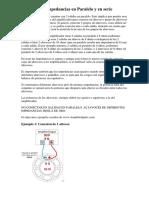 Conexión de Impedancias en Paralelo y en Serie Altavoces