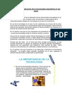 Importancia y aplicación de la tecnologias educativas en las aulas 2.docx