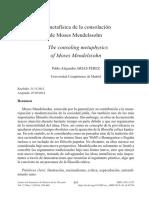 La metafisica de la consolación de Moses Mendelssohn