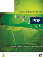 Inclusiveness of Educatoinal Facilities in AJK