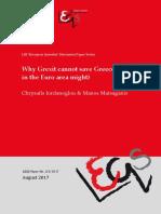 'Why Grexit cannot save Greece' - Iordanoglou & Matsaganis