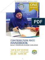 Contribution Rate Handbook Matrix TAPandSCP
