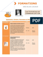 Calendrier Formations en Communication Fin Année 2017