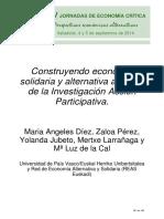 DIEZ Y OTROS 2014 Construyendo Economia Solidaria y Alternativa a Traves de La IAP