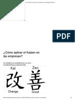 ¿Cómo Aplicar El Kaizen en Las Empresas_ _ Plusintegralconsultores