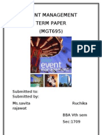 3020070011_event Management Term Paper_mgt695_ruchika Event