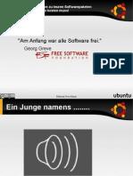 Vortrag freie Software