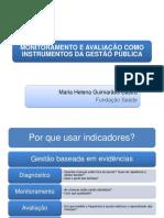 MONITORAMENTO E AVALIA+ç+âO COMO INSTRUMENTOS DA GEST+âO P+ÜBLICA