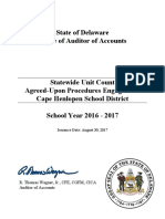 Statewide Unit Count Agreed-Upon Procedures Report - Cape Henlopen School District - School Year 2016-2017 (Signed)