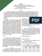 Capacitor Lab report