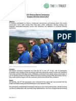 GVI Mexico Service Learning Marine Awarenes Achivement Report 2017