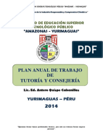 Plan Anual Tutoria 2014