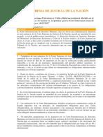Fallo de La CSJN Con Relación a La Causa Fontevecchia y D Amico vs. Argentina Dictada Por La CIDH