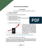 Ope. de Fracturamiento - Apl. y Materiales