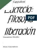 Cappelletti Angel Lucrecio La Filosofia Como Liberacion Pensamiento Filosofico PDF
