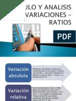 Analisis de Variaciones y Ratios 1