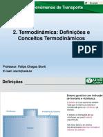 Aula 02 - Definições e Conceitos Termodinâmicos