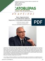 José Ramón Esquinas Algaba, Base y Superestructura en El Materialismo Dialéctico, El Catoblepas 98_17, 2010
