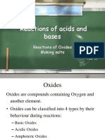 AcidsBases - Oxides and Salts