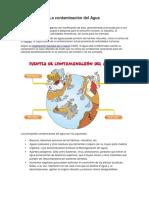 La Contaminación Del Agua-trabajo Para 4to de Primaria
