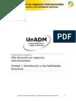 Introduccion a Las Habilidades Directivas