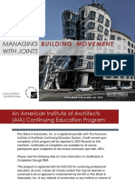 Managing Building Movement With Joints
