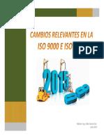 Cambios SO 9000 e ISO 9001 R.2015