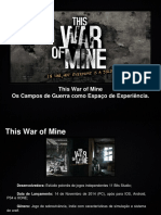 This War of Mine - Os Campos de Guerra como Espaço de Experiência