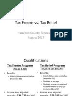 Tax Freeze vs Tax Relief - 2017