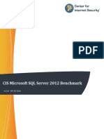 CIS Microsoft SQL Server 2012 Benchmark v1.3.0