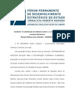 """Notas Taquigráficas """"Contribuição da Indústria Nuclear para a Recuperação Econômica Fluminense"""""""