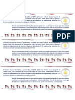 Tarjetas Invitacion Alumnos de Cueca y Autoridades Del Colegio