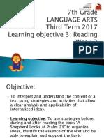 7th Language ARTS-Ind III-3rd Term 2017 (Week 2 Reading)