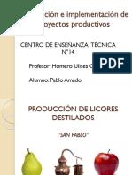 Produccion de Licores Destilados