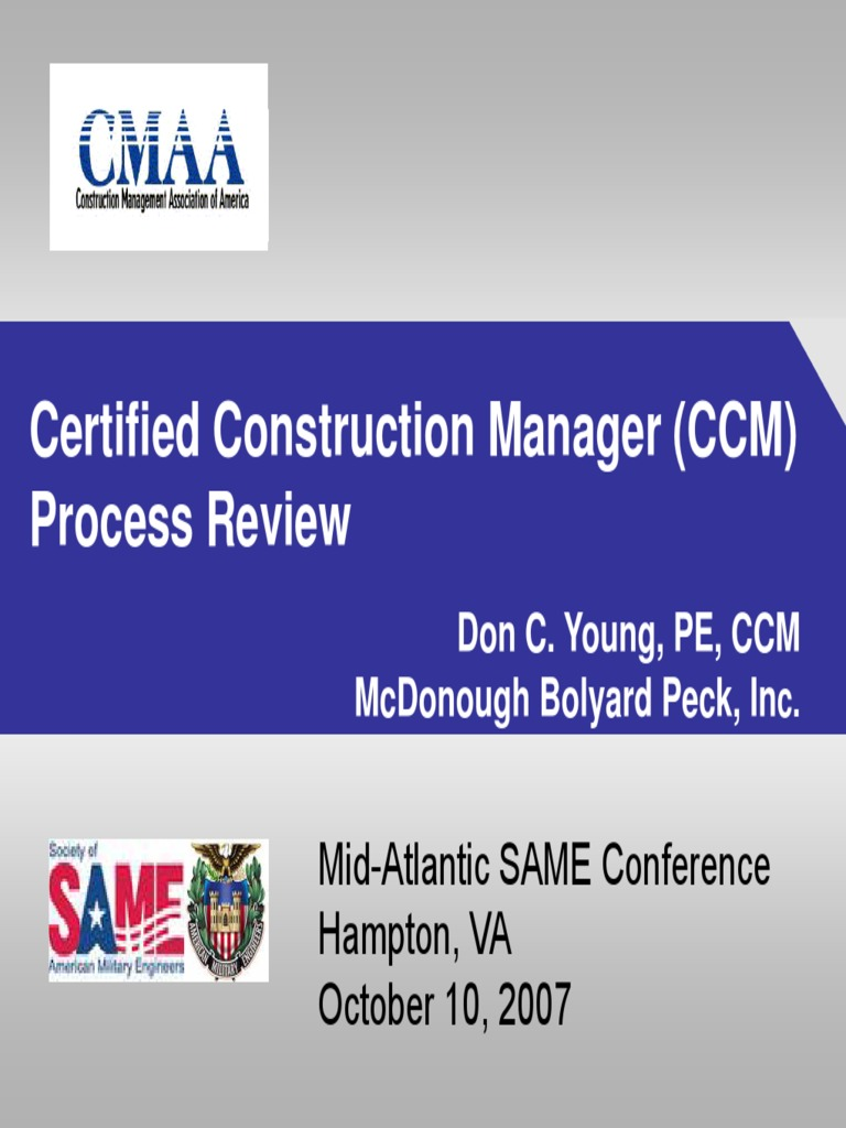 Ccm Certification Overview Professional Certification