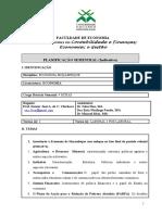 Plano Semestral ECONOMIA DE MOÇAMBIQUE II SEM 2017