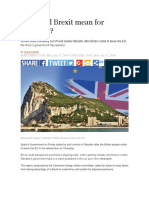 What Will Brexit Mean for Gibraltar