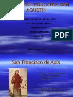 Trabajo francisco de asis, tarso, san agustin y papa francisco