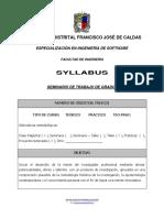 Syllabus Seminario Trabajo Grado i
