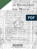 Arquivos Brasileiros de Hygiene Mental
