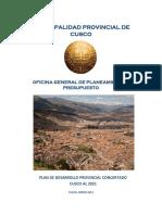 Plan Desarrollo Provincial Concertado 2021