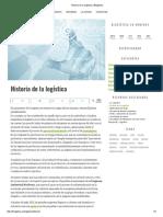 Historia de La Logística _ Blogística