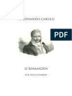 F.carulli - 12 Romanzen SCORE