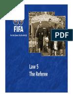 Law 5 the Referee en 47411