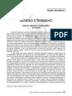 Gênero e Trabalho Nadya Araújo Guimarães