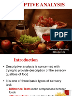Food Descriptive Analysis