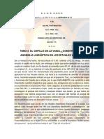 Tema 5 El Cepillo de La Viuda, Constituye Una Anomalía Linguistca en Los Rituales Latinos